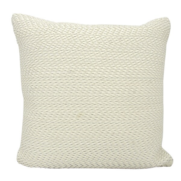 mina victory leather basket weave white throw pillow by nourison 20 inch x 20 inch
