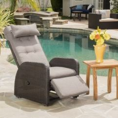 Recliner Patio Chair Target Bungee Recliners Furniture Find Great Outdoor Seating Dining Ostia Wicker With Cushion By Christopher Knight Home