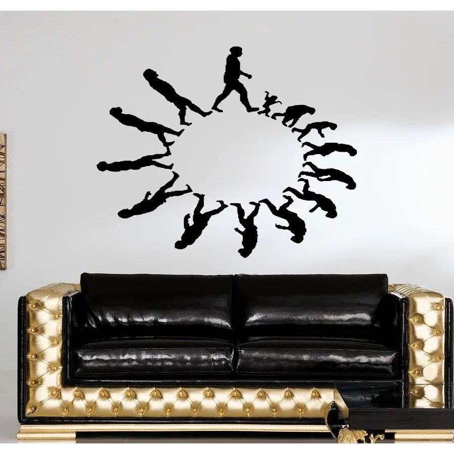 Evolution evolutionary chain People in circles Wall Art Sticker Decal