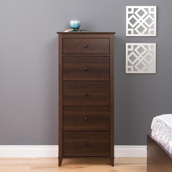 Dark Brown Tall Dresser