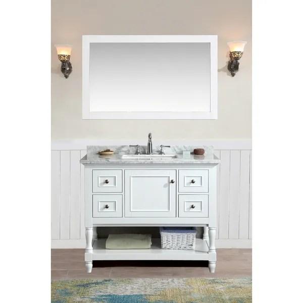 Shop Ari Kitchen and Bath Cape Cod White 42inch Single Bathroom Vanity Set with Mirror  Free
