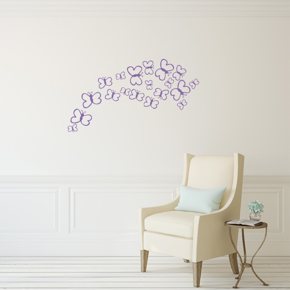 Butterfly Baby Set Wall Decal Vinyl Art Home Decor