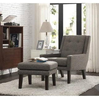 rialto black bonded leather chair mechanic creeper inspire q albury two-tone lounging with ottoman - 12712736 overstock.com shopping ...