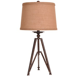 Tripod Rust Iron 28.5-inch Table Lamp