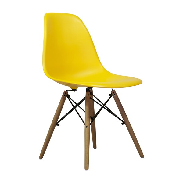 Eames Style Midcentury Modern Yellow Dining Chair  Free