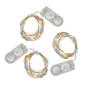 Battery Operated Waterproof Multicolor Mini String Lights (Set of 3)