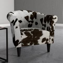 Cowhide Print Accent Chair Stokke Tripp Trapp High Beumont Free Shipping On