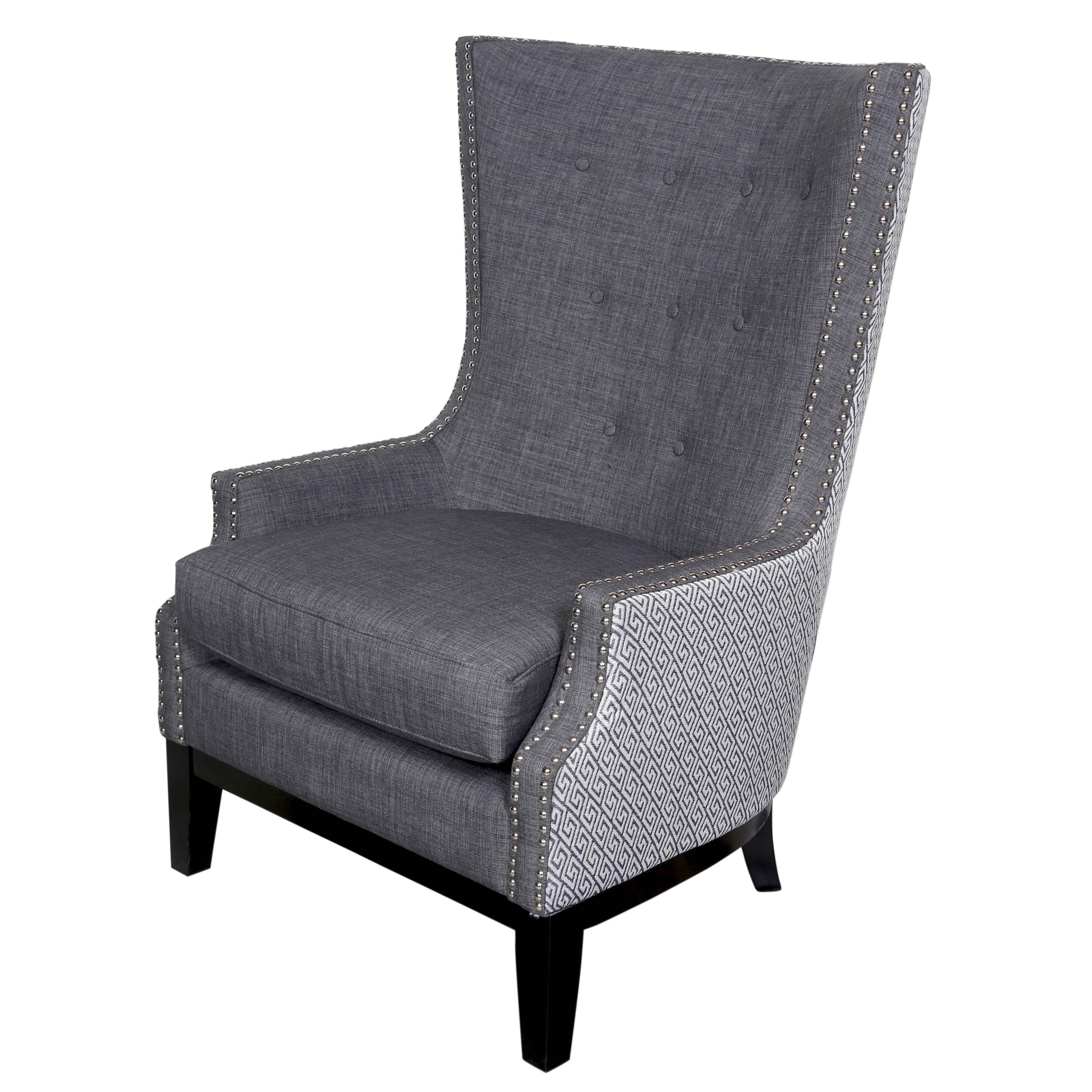 Shop Handmade Draper Lilian Tufted High Wing Back Chair 43 X 27 X 31 India 43 H X 27 D X 31 W Overstock 11780886