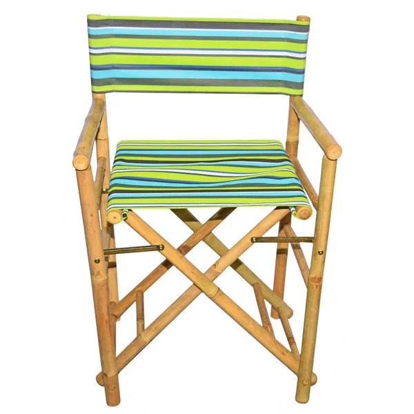 striped directors chairs for the bedroom shop handmade set of 2 bamboo director s with canvas x27 vietnam