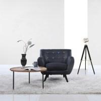 Mid-century Aqua Bonded Armless Chair - 16081230 ...