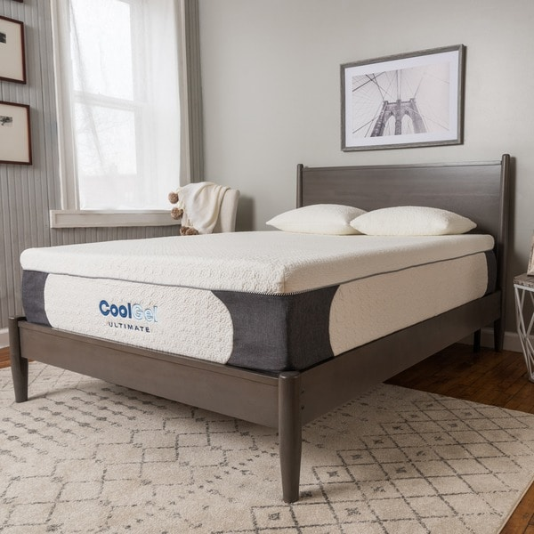 Postureloft Milan 14 Inch Full Size Cool Gel Memory Foam Mattress With Pillow