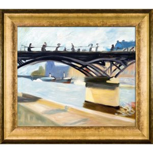 Edward Hopper 'Les Pont des Arts, 1907' Hand Painted Framed Canvas Art