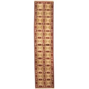 Handmade Herat Oriental Indo Aubusson Wool Area Rug (India) - 2'6 x 11'6