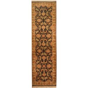 Handmade Herat Oriental Indo Khorasan Wool Area Rug (India) - 3' x 10'4