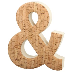 Brown Aluminum and Wool 8.5-inch x 2-inch x 10-inch Ampersand Decorative Numbers