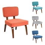 Nunzio Mid Century Modern Wood Accent Chair On Sale Overstock 11845586 Espresso