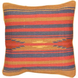 eCarpetGallery Handmade Brown/Pink Wool Ottoman Kilim Cushion Cover (1'5 x 1'5)