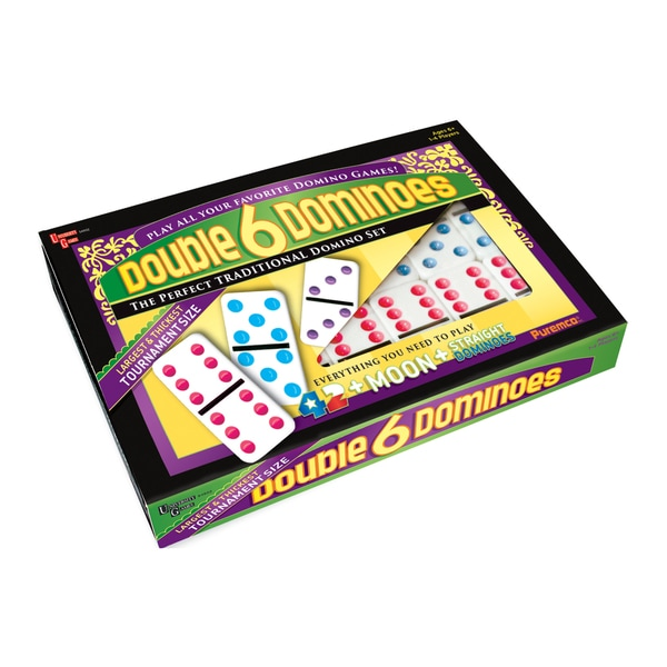 Shop Puremco Double 6 Color Dot Tournament Size Dominoes - Overstock - 11846757