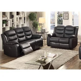 ryker reclining sofa and loveseat 2 piece set herringbone microfiber alex bed sleeper - 13709155 overstock.com shopping ...