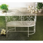 Shop Friendly White Metal Outdoor Bench Overstock 11864098