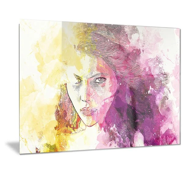 shop designart seductive stare sensual metal wall art on sale