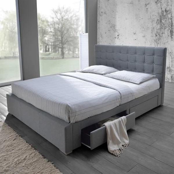 splitting living room into bedroom how to arrange small with tv baxton studio adonis modern and contemporary grey fabric 4 ...