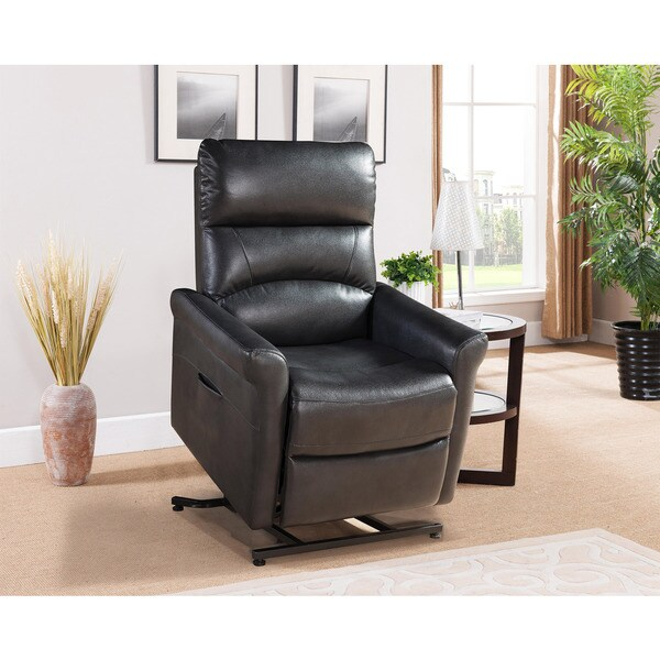 Shop Colby Black Reclining Power Lift Chair  On Sale
