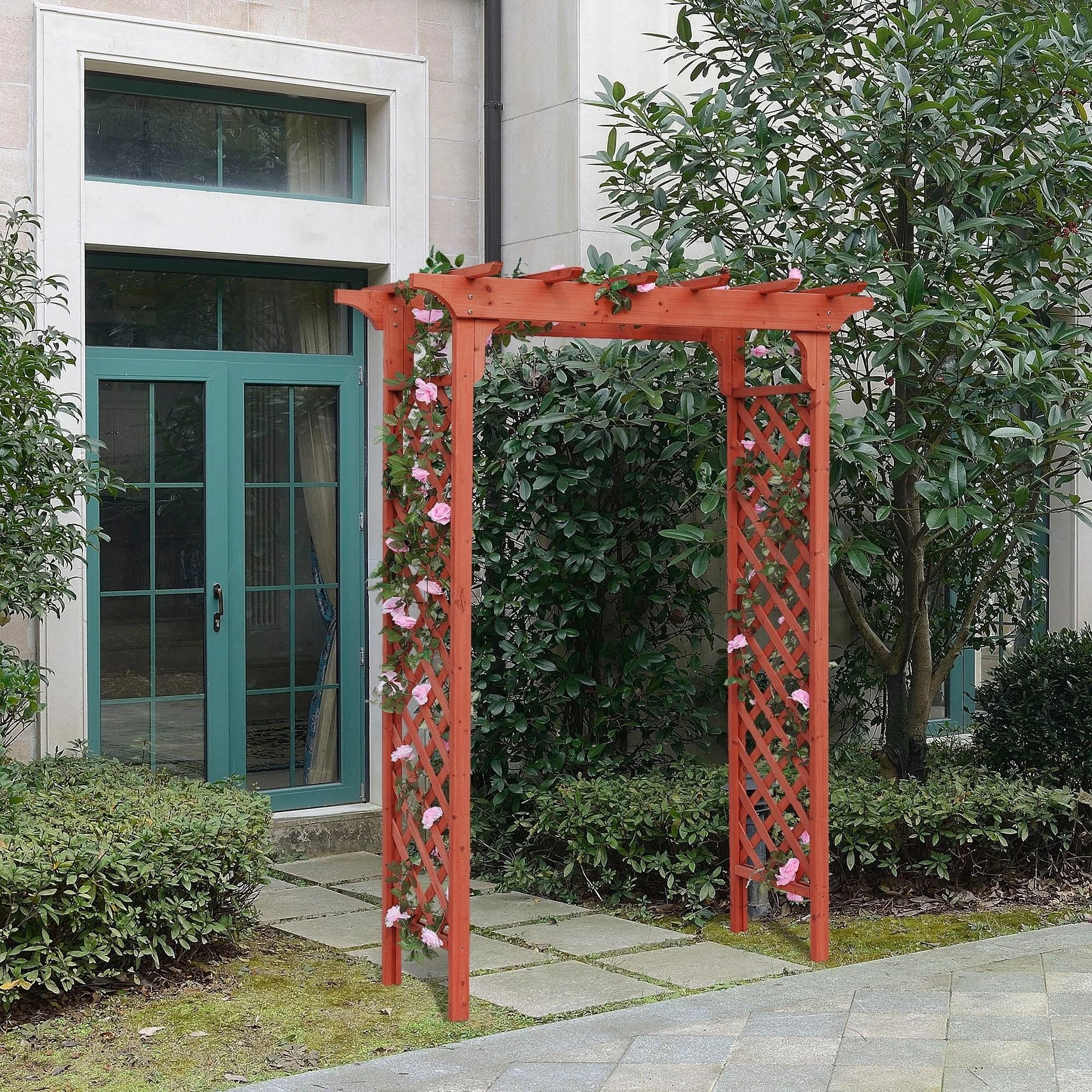 Shop Deluxe Garden Arbor Overstock 11878076 Red Cedar