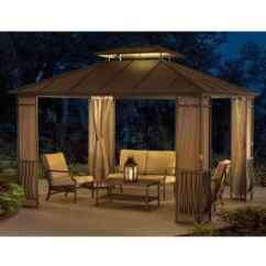 Sofa Stone St Kitts Sectional Sofas Raleigh Nc Riverstone Industries Acacia Sunbrella Fabric Gazebo (12 ...