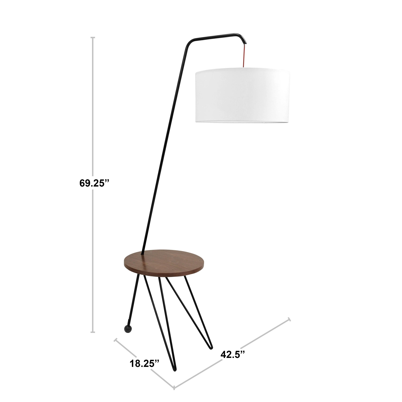 Carson Carrington Dunker Mid Century Modern Floor Lamp