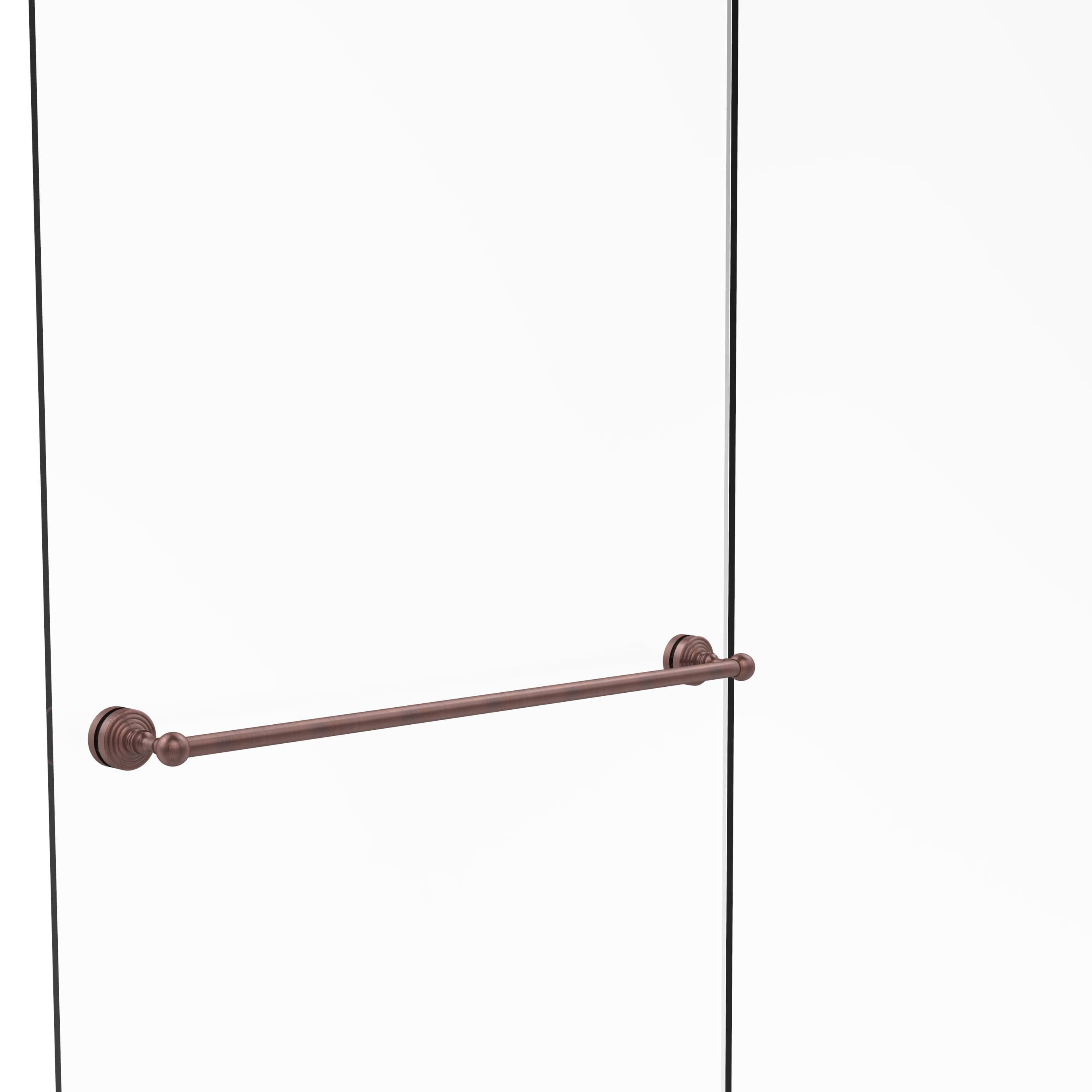 Allied Brass Waverly Place Collection Clear Finish Brass 30-inch Shower Door Towel Bar