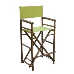 Bamboo Directors Chairs Blue Velvet Armchair Uk Zew Handcrafted Espresso Bar Height Director Chair