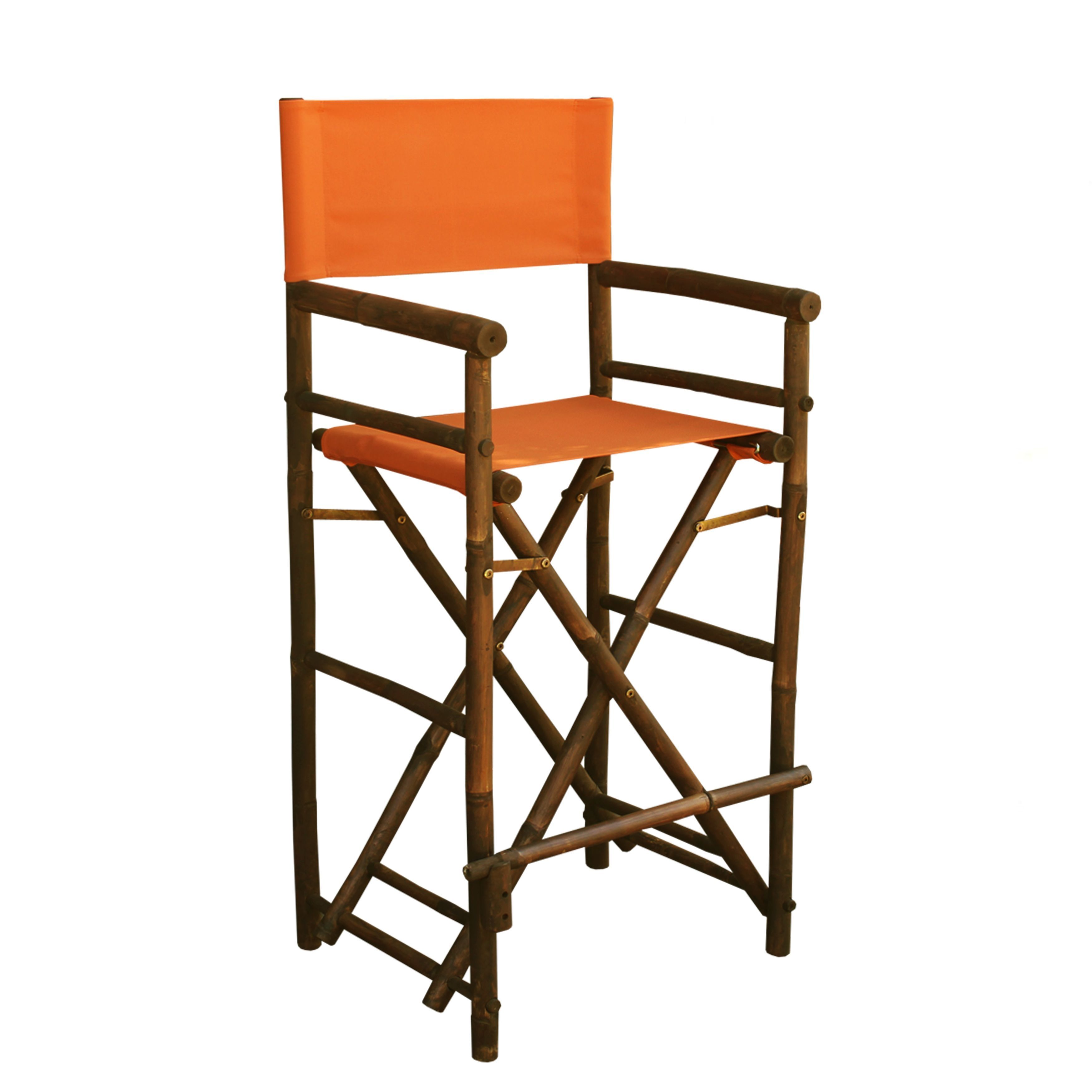 bamboo directors chairs best back cushion for office chair zew handcrafted espresso bar height director
