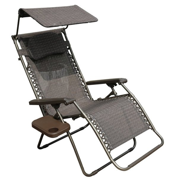 anti gravity lawn chair computer back shop abba patio oversized zero recliner lounge with sunshade and drink tray