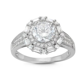 Shop Gioelli Sterling Silver Round and Emeraldcut Cubic