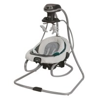 Shop Graco DuetSoothe Green, Grey and White Plastic Swing ...