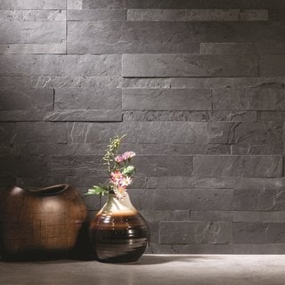 slate backsplash in kitchen italian cabinets buy grey tiles online at overstock com our best tile deals aspect 6 x 24 inch charcoal peel and stick stone