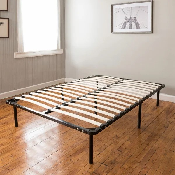 Shop Postureloft Wood Slat And Metal Platform Twin Xl Bed
