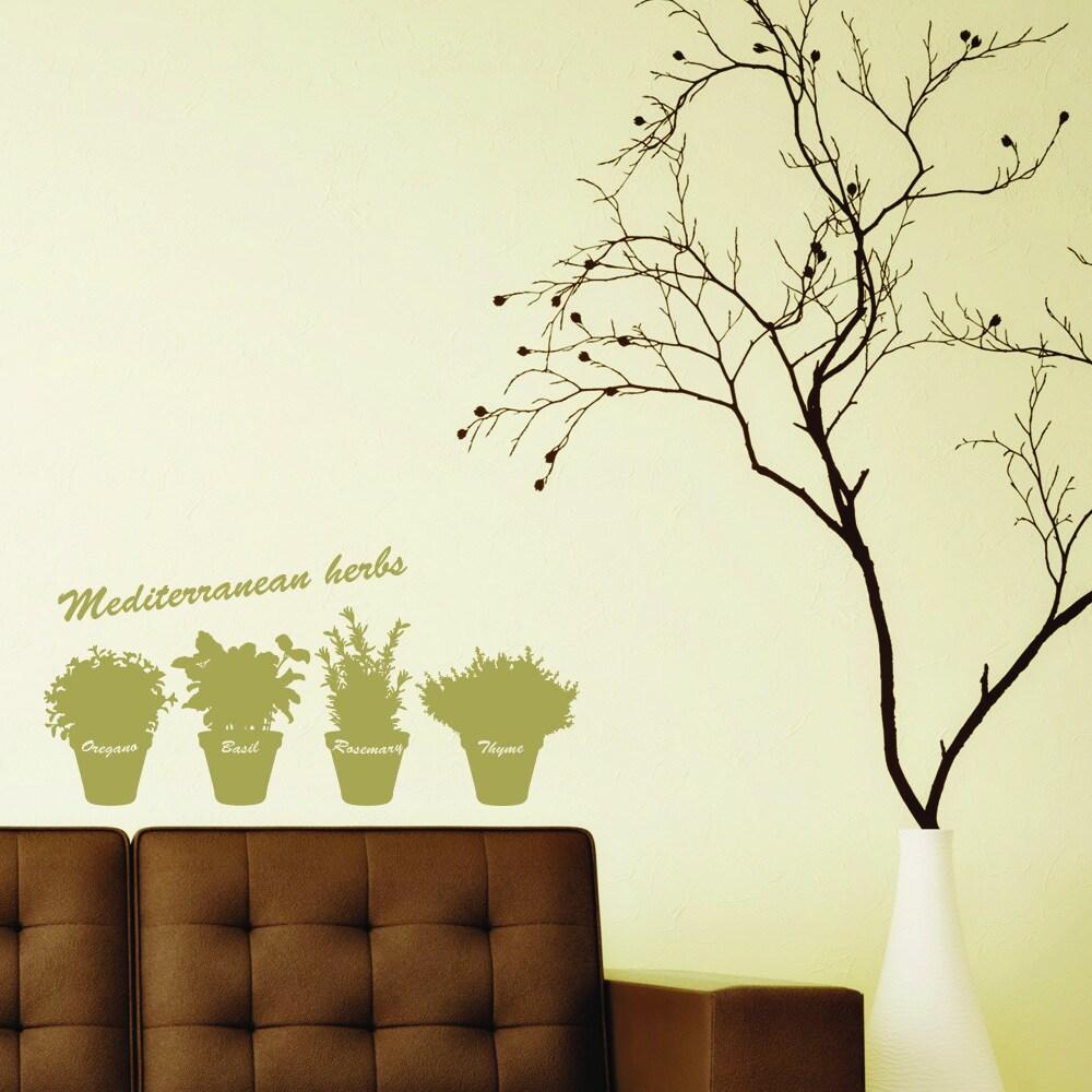 Mediterranean Herbs Vinyl Wall Stickers