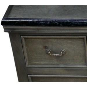 Y-Decor Antique Grey Solid Mango Wood 60-inch Single Bathroom Vanity