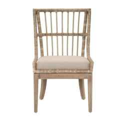 Gray Rattan Dining Chairs Kids Ghost Chair Shop Manor Sidney Distressed Tan Mahogany Fabric Set Of 2