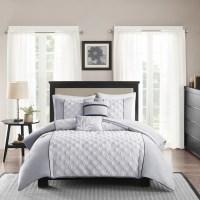 Shop Madison Park Michelle Grey 5-piece Comforter Set ...