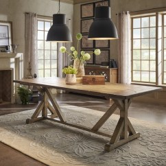 3 Piece Kitchen Rug Set Microwave Shop Paloma Rustic Reclaimed Wood Rectangular Trestle Farm ...