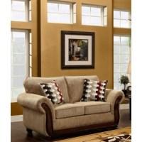 Tiffany Cream Leather Sofa and Loveseat - Free Shipping ...