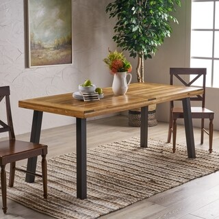 contemporary kitchen tables country wall decor buy modern dining room online at sparta acacia wood rectangle table by christopher knight home brown