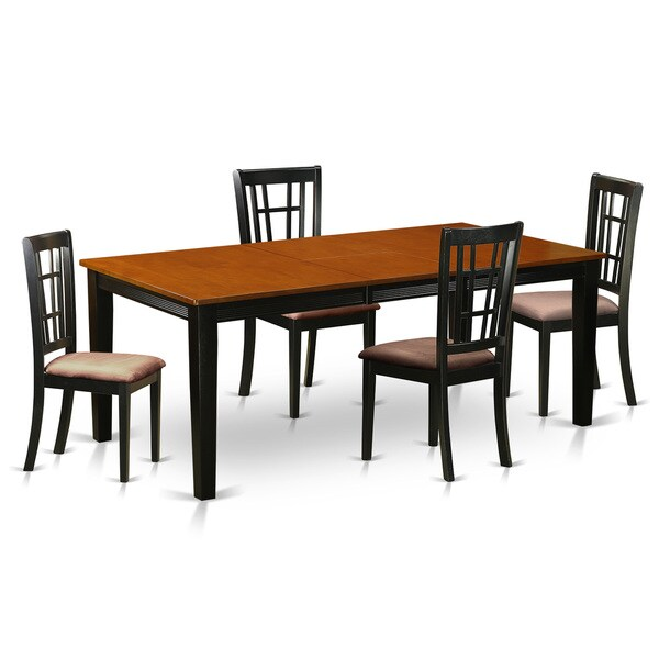 rubberwood butterfly table with 4 chairs ergonomics office chair shop quni5 bch black cherry dining solid pack of