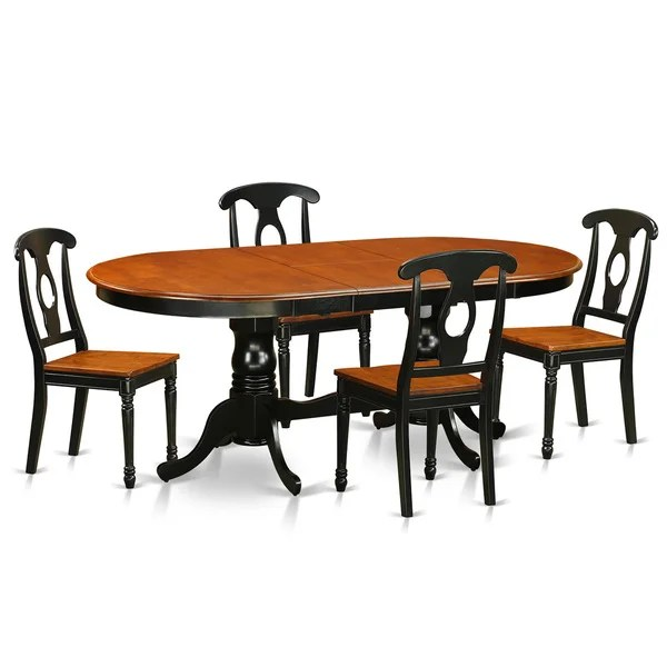 rubberwood butterfly table with 4 chairs leveraged freedom chair shop plke5 bch lc black cherry dining pack of 5 free shipping today overstock com 11967717