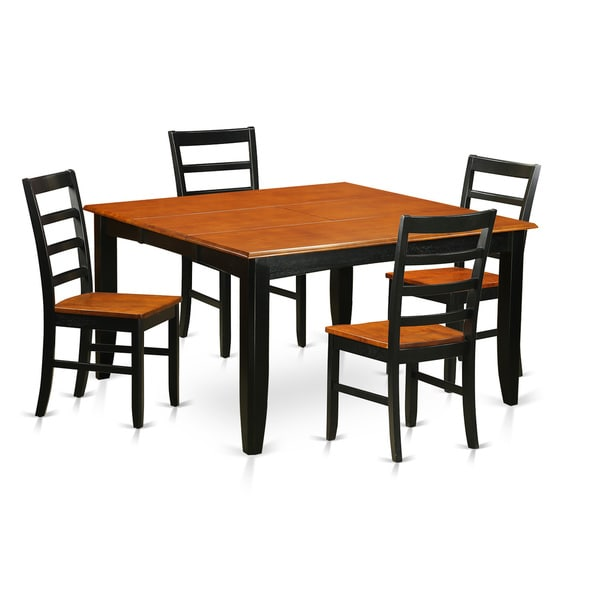 rubberwood butterfly table with 4 chairs office chair in jaipur shop parf5 blk black brown 5 piece dining set leaf free shipping today overstock com 11967762