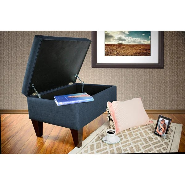 brooklyn bonded leather lounger chair and ottoman extra large adirondack chairs shop mjl furniture dawson 7 upholstered square legged box storage