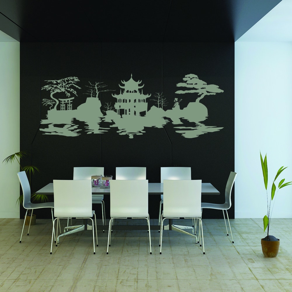 Style & Apply Asian Harmony Vinyl Wall Decal and Sticker Mural Art Home Decor